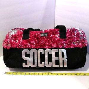 Justice Soccer Duffle Sports Bag